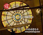 彩色玻璃穹顶彩绘玻璃穹顶彩色玻璃幕墙玻璃厂家