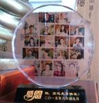 教师节专供西安水晶奖杯 相片彩印奖牌水晶笔筒 制作