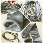 玻璃盖板专用,316L不锈钢纤维高温金属套管,深圳广瑞生产