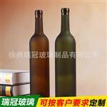 葡萄红酒瓶磨砂装饰品