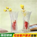 客厅插花花瓶 水培富贵竹百合落地花瓶 欧式玻璃透明花器摆件