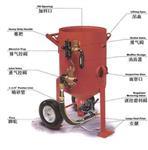 江西400型移动开放式喷砂罐子 适用钢结构除锈喷砂机