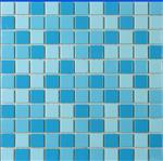蓝色泳池瓷砖