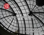 双弧钢弯彩色玻璃穹顶彩绘玻璃穹顶穹顶专业厂家制作