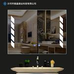 丽晶现代壁挂贴墙卫生间悬挂led灯镜无框卫浴镜厕所镜可定制