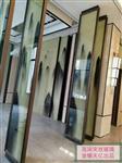 实物夹丝玻璃  山水画夹丝玻璃  夹绢丝玻璃  夹萱纸玻璃