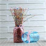 ins风北欧复古透明玻璃花瓶田园简约干花创意台面广口花瓶