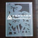 东莞图案喷砂蒙砂玻璃/钢化玻璃/车花玻璃/家具玻璃/餐桌玻璃