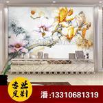 家装艺术玻璃 玉堂春 电视背景墙