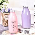 徐州玻璃瓶牛奶瓶铝盖玻璃饮料瓶