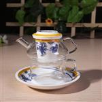 旅行套装快客杯 玻璃茶具