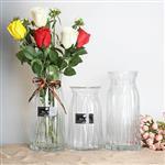 玻璃花瓶透明水培花器折纸插花瓶客厅家居装饰摆件