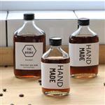 INS新款小容量保健酒瓶饮料瓶外带瓶泡茶瓶果汁玻璃