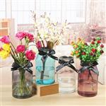 加工定制玻璃彩色花瓶现货批发欧式水培花器