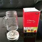 摩登主妇创意透明玻璃杯果汁梅森杯家用公鸡饮料杯