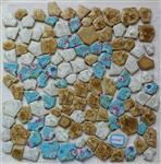 彩色青花瓷碎拼马赛克 高档室内外墙马赛克砖
