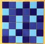 供应纯色游泳池马赛克 泳池专用马赛克 深蓝色马赛克