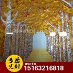 黄金大道艺术雕刻玻璃走廊进门玄关背景墙