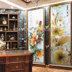 蓮開盛世手工雕刻藝術玻璃走廊玄關
