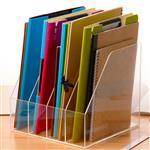 杭州有机玻璃透明亚克力文件架书本资料存放架展会展厅展示