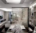 客厅隔断山水画玻璃