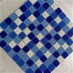 25*25蓝色玻璃游泳池马赛克