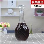 菱形玻璃酒瓶