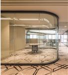 双层弧形玻璃隔断加工安装