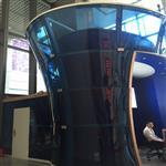 广州弧形热弯玻璃深加工厂 定做大型弯钢玻璃幕墙 弧形玻璃