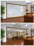 智能调光玻璃办公室隔断电控玻璃通电透明断电磨砂