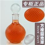 供應玻璃紅酒瓶玻璃儲酒器鉆石酒瓶白酒瓶地球紅酒瓶1000ML