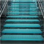 玻璃加工厂 供应8mm钢化玻璃  浴室/楼梯钢化防滑玻璃