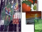 高温数码彩釉打印玻璃喷绘玻璃