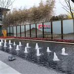 广州富景玻璃夹山水画玻璃隔断背景墙生产厂家尺寸可定制