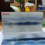 广州富景玻璃夹山水画玻璃生产厂家