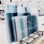 夹丝玻璃厂家 夹丝山水画玻璃 隔断屏风夹丝玻璃