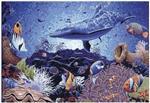 海底世界玻璃马赛克艺术剪画精剪镶嵌壁画玄关电视装饰背景墙