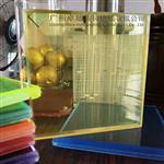 橙黄色夹胶艺术玻璃