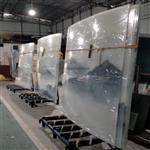 广州弧形弯钢玻璃 弧形夹山水画玻璃 隔断弧形玻璃