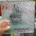 深圳玻璃厂家订制批发超白石头纹热熔玻璃