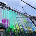 广州幕墙炫彩玻璃 炫彩钢化玻璃 户外幻彩玻璃