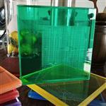 青色夹胶艺术玻璃
