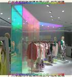 服装店炫彩装饰玻璃