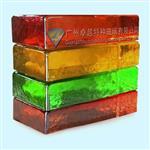 彩色透明实心玻璃砖