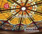 供应彩色玻璃窗玻璃穹顶,会所酒店彩绘玻璃窗