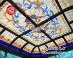 彩色教堂玻璃穹顶彩绘