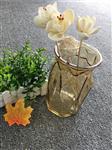 欧式玻璃花瓶透明竖棱彩色大号简约餐桌插花水培绿萝干花客厅摆件
