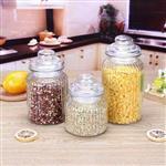定制廚房雜糧玻璃罐大口豎紋密封罐零食干果儲物罐玻璃罐規格齊全