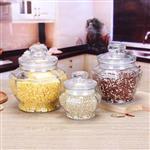 定制八角玻璃儲物罐家用干果茶葉罐透明密封玻璃罐廚房雜糧儲物罐