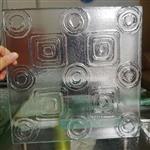 热熔玻璃隔断屏风订制